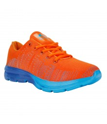 Vostro Orange Sports Shoes Flyknit for Men - VSS0272